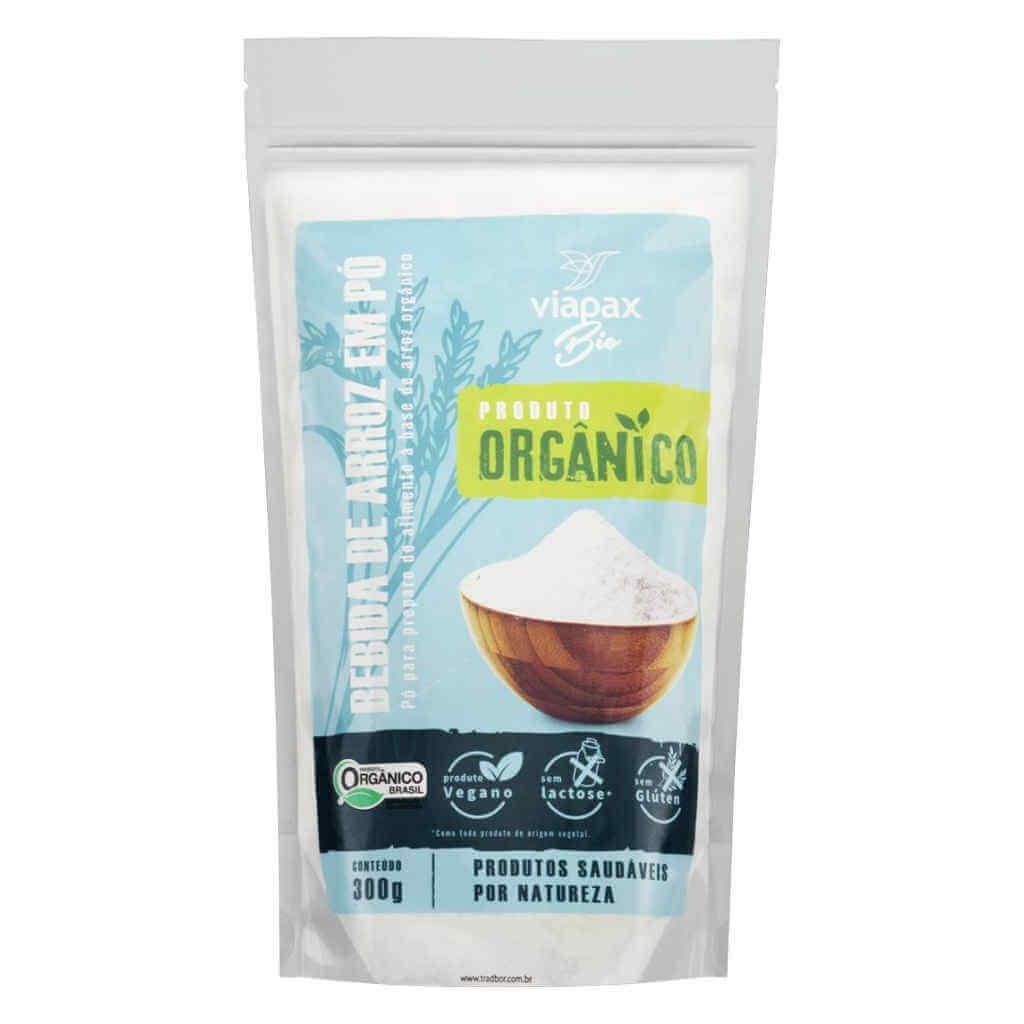 Bebida Vegetal de Arroz em Pó Orgânica 300g - Viapax Bio (Kit c/ 3 unidades)