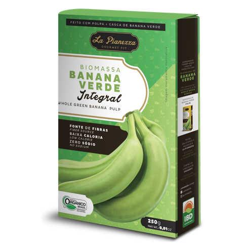 Biomassa de Banana Verde Integral Orgânica 250g - La Pianezza  - Raiz Nativa - Loja de Produtos Naturais e Orgânicos Online