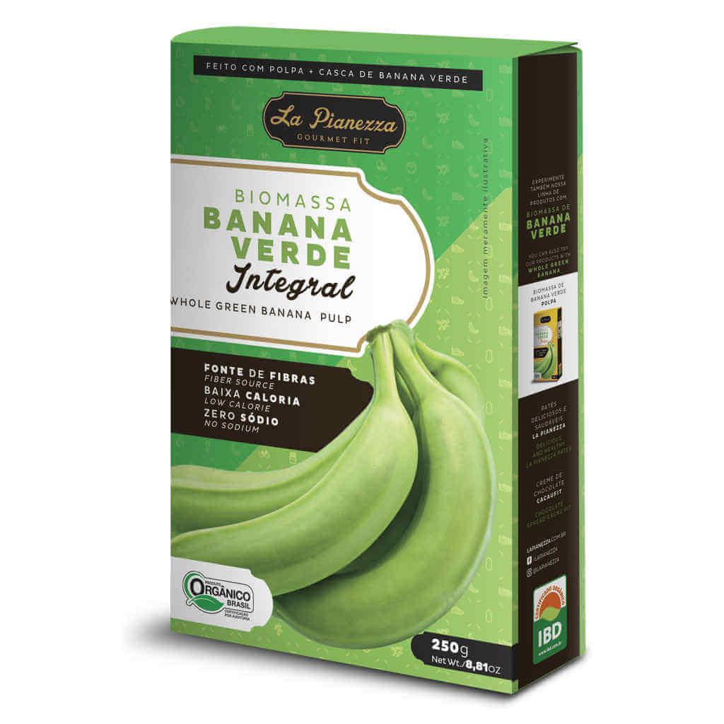 Biomassa de Banana Verde Integral Orgânica 250g - La Pianezza (Kit c/ 2 unidades)  - Raiz Nativa - Loja de Produtos Naturais e Orgânicos Online