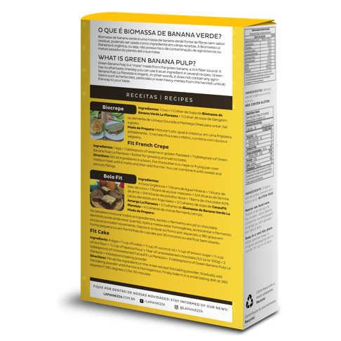 Biomassa de Banana Verde Orgânica Polpa 250g - La Pianezza  - Raiz Nativa - Loja de Produtos Naturais e Orgânicos Online