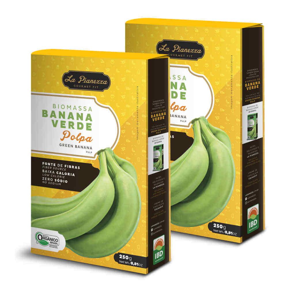Biomassa de Banana Verde Orgânica Polpa 250g - La Pianezza (Kit c/ 2 unidades)  - Raiz Nativa - Loja de Produtos Naturais e Orgânicos Online