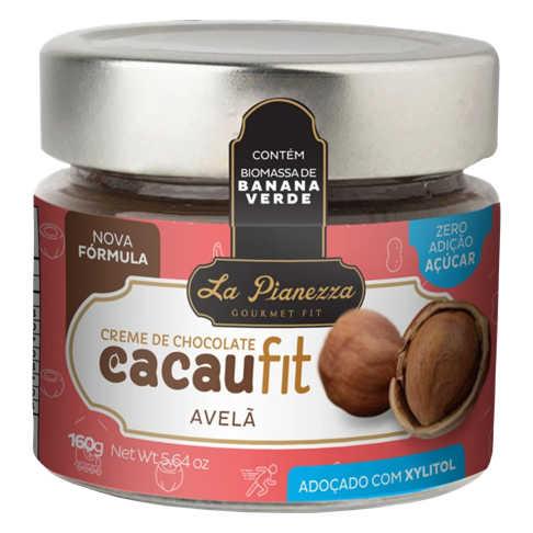 Cacaufit Creme de Chocolate com Avelã 160g - La Pianezza  - Raiz Nativa - Loja de Produtos Naturais e Orgânicos Online