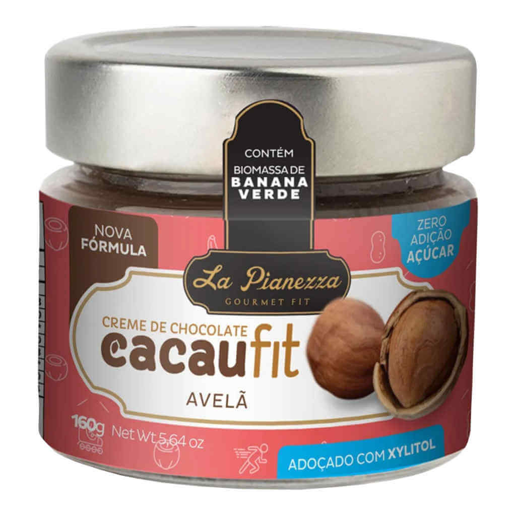 Cacaufit Creme de Chocolate com Avelã 160g - La Pianezza (Kit c/ 3 unidades)