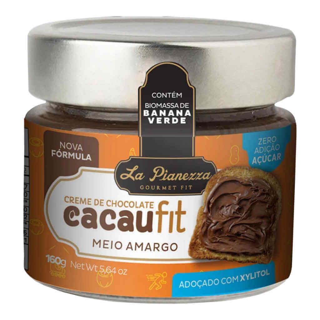 Cacaufit Creme de Chocolate Meio Amargo 160g - La Pianezza (Kit c/ 3 unidades)  - Raiz Nativa - Loja de Produtos Naturais e Orgânicos Online