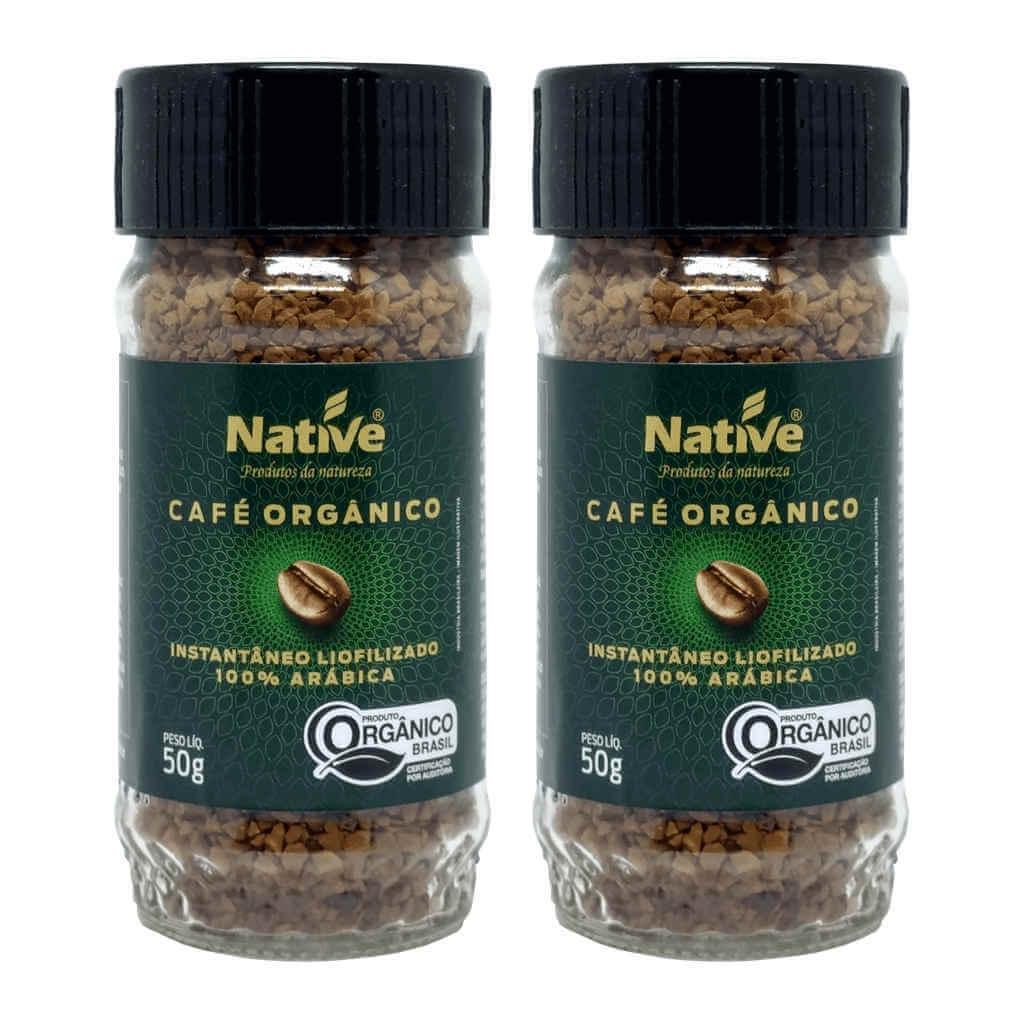Café Liofilizado Solúvel Instantâneo Orgânico 50g - Native (Kit c/ 2 unidades)  - Raiz Nativa - Loja de Produtos Naturais e Orgânicos Online