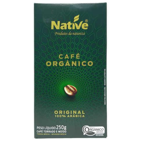 Café Orgânico Torrado e Moído Original 250g - Native  - Raiz Nativa - Loja de Produtos Naturais e Orgânicos Online