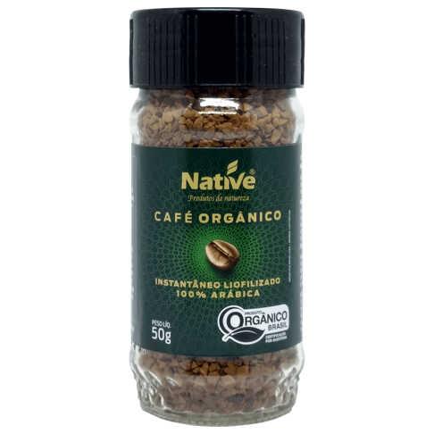 Café Solúvel Liofilizado Orgânico 50g - Native  - Raiz Nativa - Loja de Produtos Naturais e Orgânicos Online