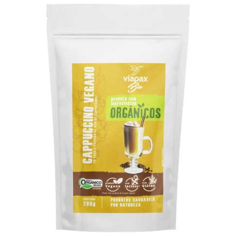 Cappuccino em Pó Vegano e Orgânico 200g - Viapax Bio  - Raiz Nativa - Loja de Produtos Naturais e Orgânicos Online