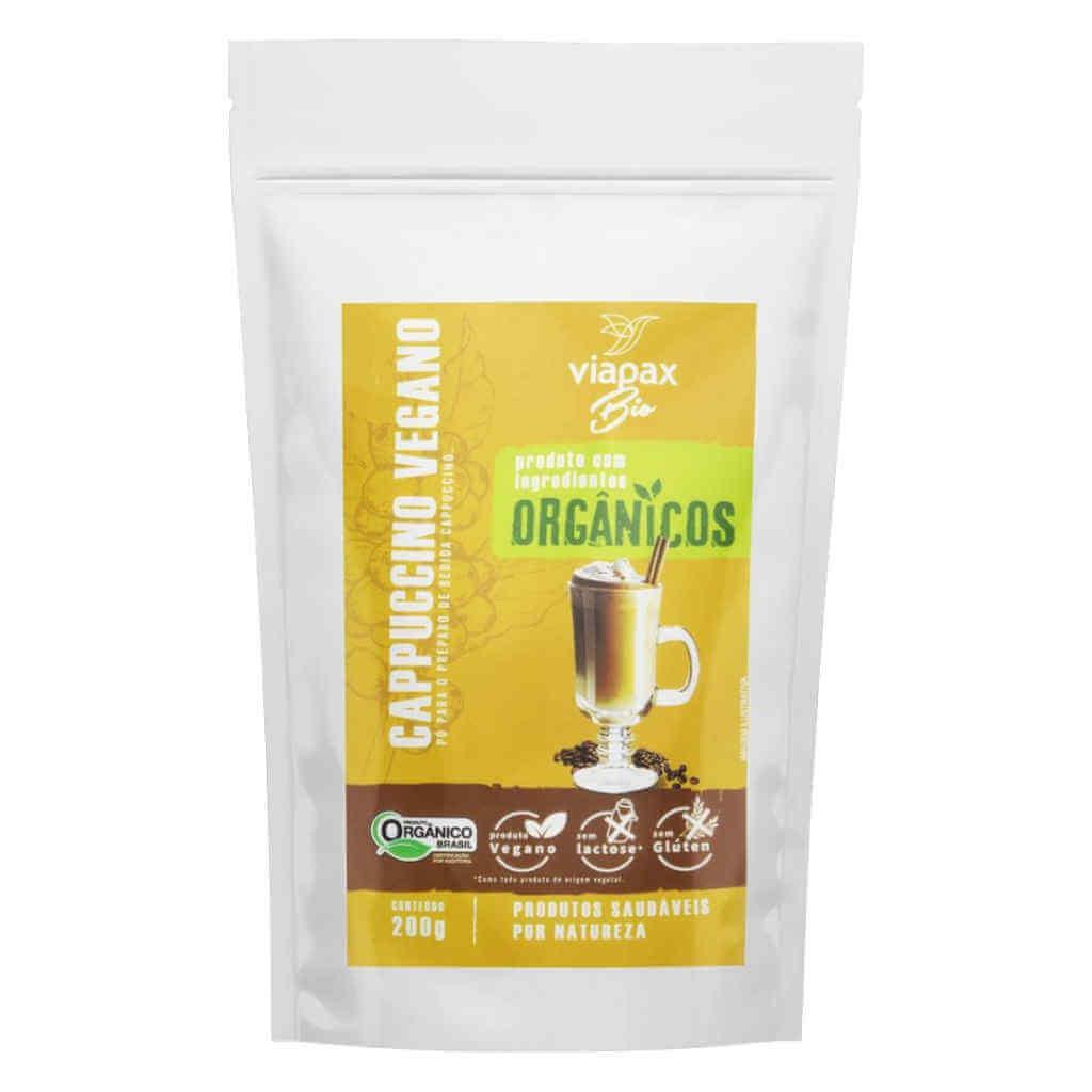 Cappuccino em Pó Vegano e Orgânico 200g - Viapax Bio (Kit c/ 3 unidades)