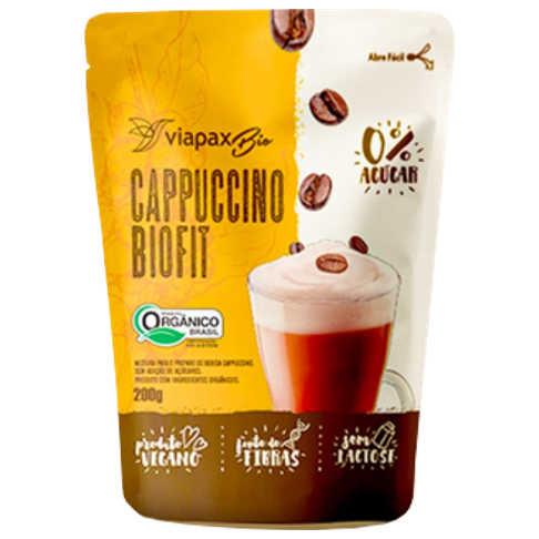 Cappuccino Sem Açúcar Biofit Orgânico 200g - Viapax Bio  - Raiz Nativa - Loja de Produtos Naturais e Orgânicos Online