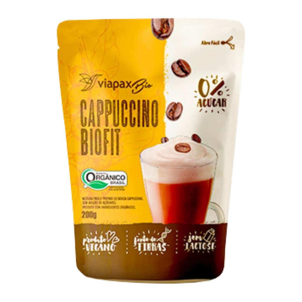 Cappuccino Sem Açúcar Biofit Orgânico 200g - Viapax Bio (Kit c/ 3 unidades)  - Raiz Nativa - Loja de Produtos Naturais e Orgânicos Online
