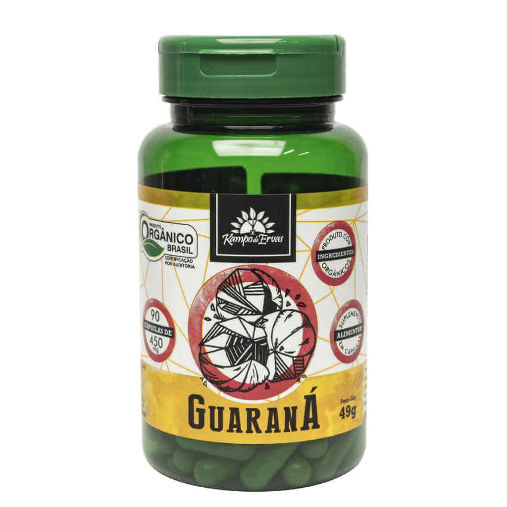 Cápsulas de Guaraná Orgânico 90 caps de 450mg - Kampo de Ervas