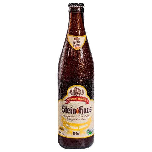 Cerveja Orgânica German Pilsen 500ml - SteinHaus  - Raiz Nativa - Loja de Produtos Naturais e Orgânicos Online