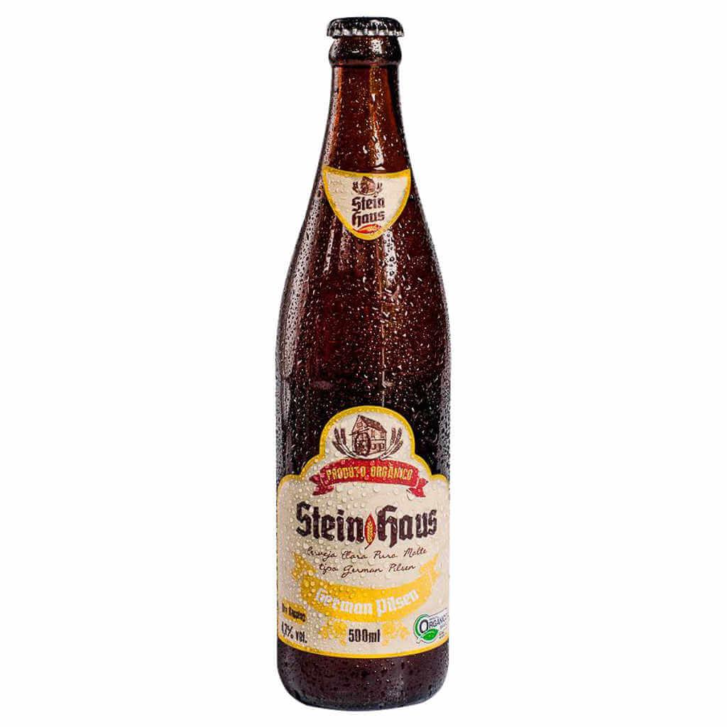 Cerveja Orgânica German Pilsen 500ml - SteinHaus (Kit c/ 3 unidades)  - Raiz Nativa - Loja de Produtos Naturais e Orgânicos Online