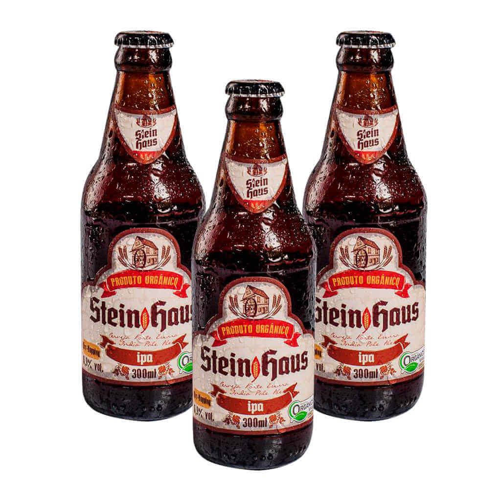 Cerveja Orgânica IPA 300ml - SteinHaus (Kit c/ 3 unidades)