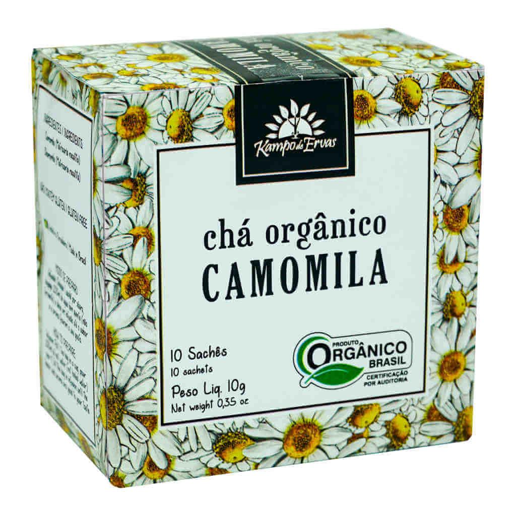 Chá de Camomila Orgânico - Kampo de Ervas (Kit c/ 30 sachês)
