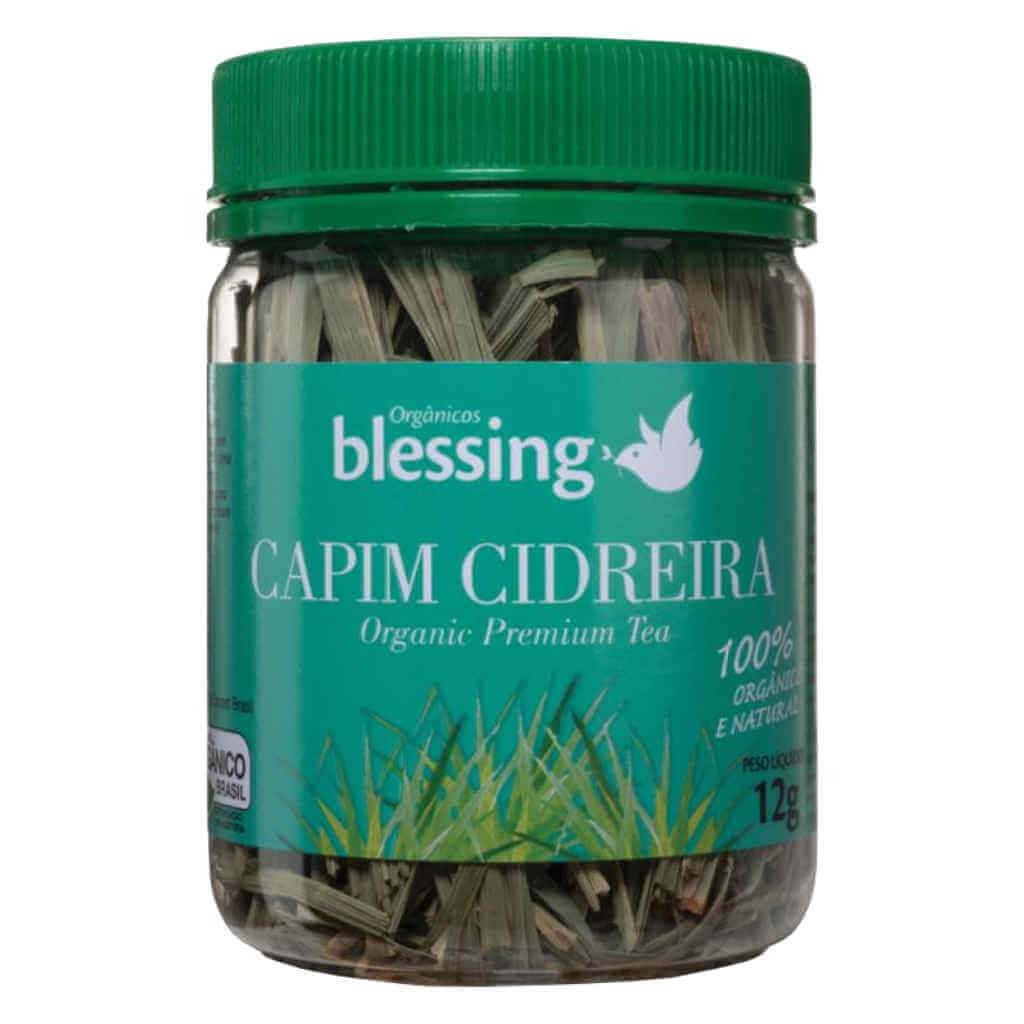 Chá de Capim Cidreira Orgânico 12g - Blessing (Kit c/ 2 unidades)