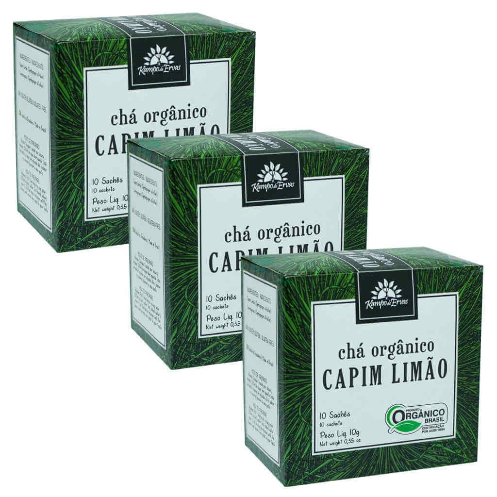 Chá de Capim Limão Orgânico - Kampo de Ervas (Kit c/ 30 sachês)