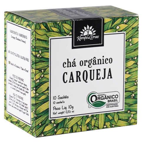 Chá de Carqueja Orgânico 10 Sachês - Kampo de Ervas  - Raiz Nativa - Loja de Produtos Naturais e Orgânicos Online