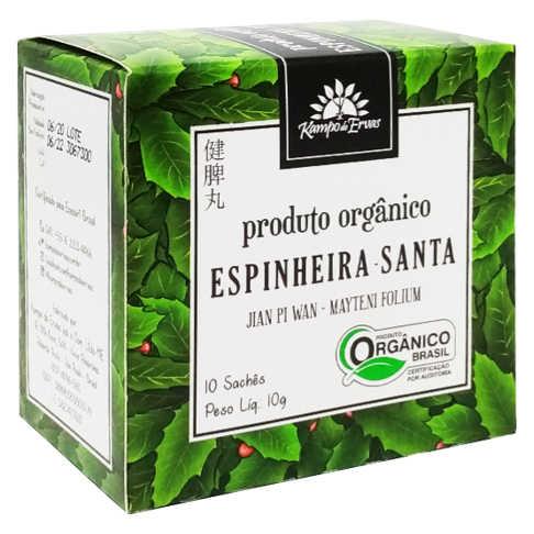 Chá de Espinheira Santa Orgânico 10 sachês - Kampo de Ervas  - Raiz Nativa - Loja de Produtos Naturais e Orgânicos Online
