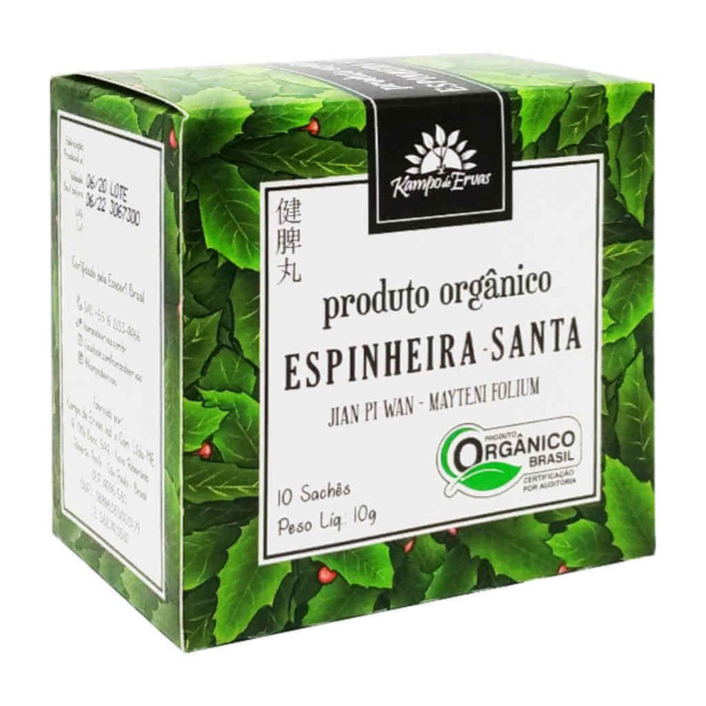 Chá de Espinheira Santa Orgânico 10 sachês - Kampo de Ervas