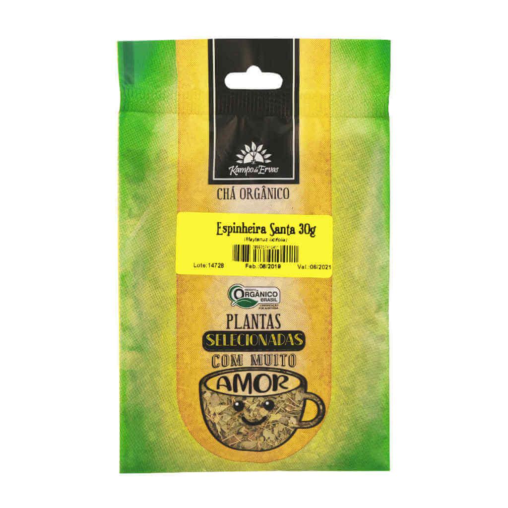 Chá de Espinheira Santa Orgânico 30g - Kampo de Ervas  - Raiz Nativa - Loja de Produtos Naturais e Orgânicos Online