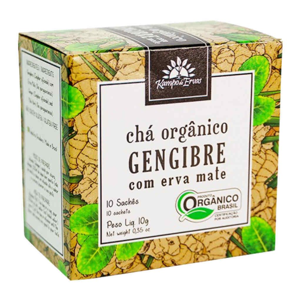 Chá de Gengibre e Mate Orgânico 10 Sachês - Kampo de Ervas