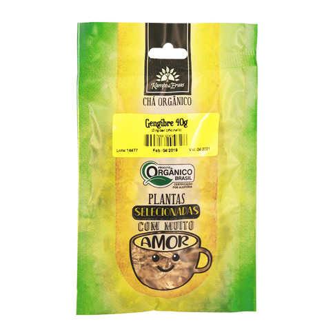 Chá de Gengibre em Lascas Orgânico 40g - Kampo de Ervas  - Raiz Nativa - Loja de Produtos Naturais e Orgânicos Online