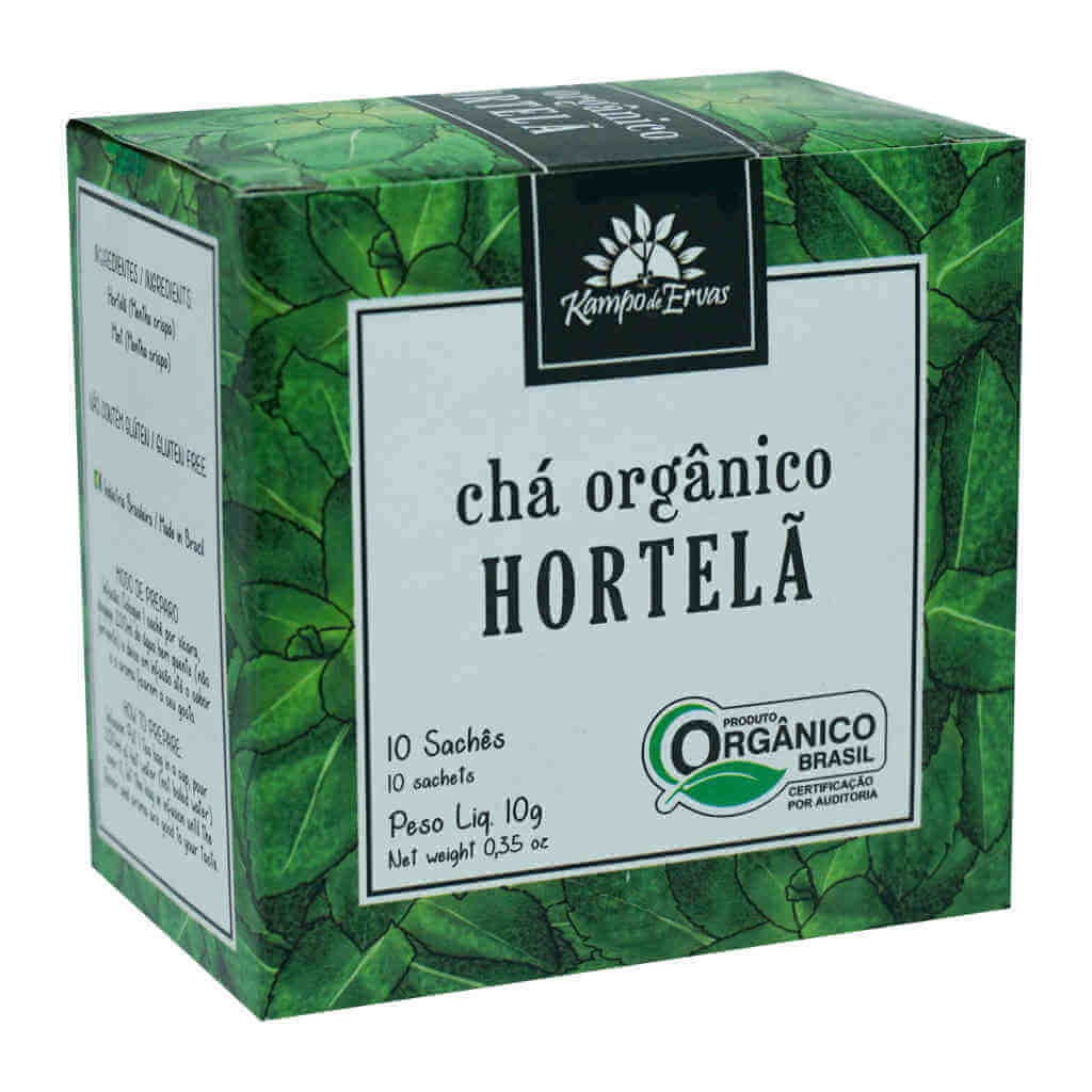 Chá de Hortelã Orgânico - Kampo de Ervas (Kit c/ 30 sachês)  - Raiz Nativa - Loja de Produtos Naturais e Orgânicos Online