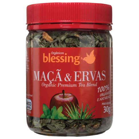 Chá de Maçã e Ervas Orgânico 30g - Blessing  - Raiz Nativa - Loja de Produtos Naturais e Orgânicos Online