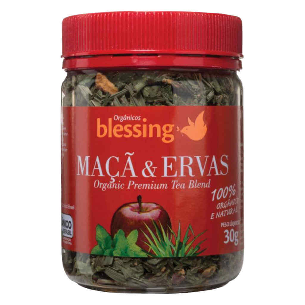 Chá de Maçã e Ervas Orgânico 30g - Blessing (Kit c/ 2 unidades)  - Raiz Nativa - Loja de Produtos Naturais e Orgânicos Online