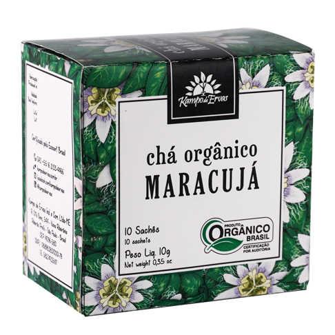 Chá de Maracujá Orgânico 10 sachês - Kampo de Ervas  - Raiz Nativa - Loja de Produtos Naturais e Orgânicos Online
