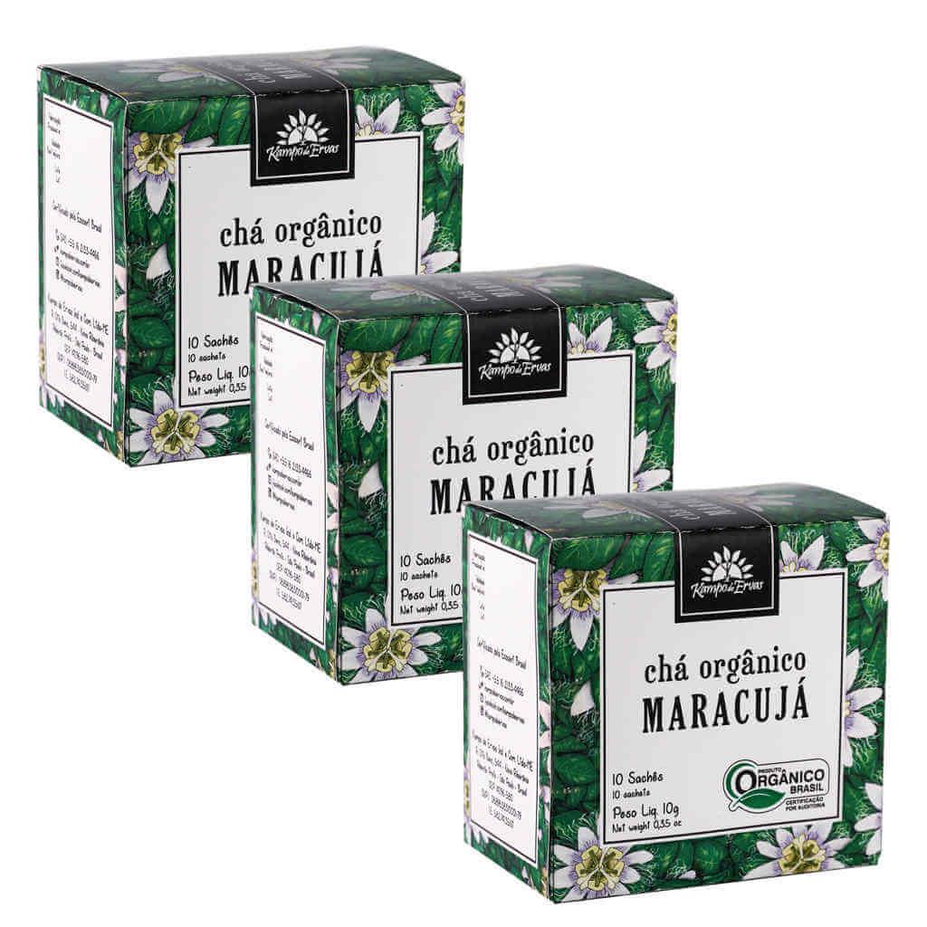 Chá de Maracujá Orgânico - Kampo de Ervas (Kit c/ 30 sachês)  - Raiz Nativa - Loja de Produtos Naturais e Orgânicos Online