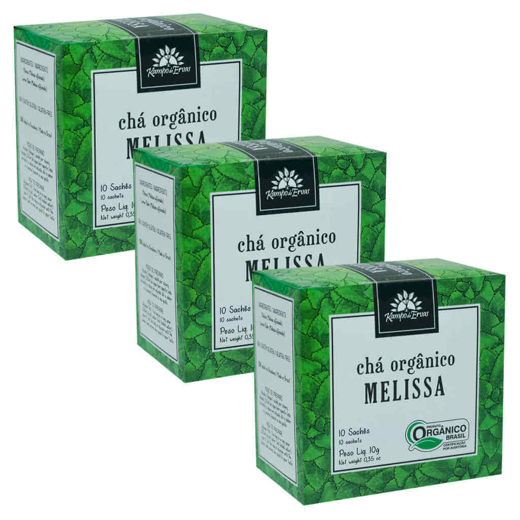 Chá de Melissa Orgânico - Kampo de Ervas (Kit c/ 30 sachês)  - Raiz Nativa - Loja de Produtos Naturais e Orgânicos Online
