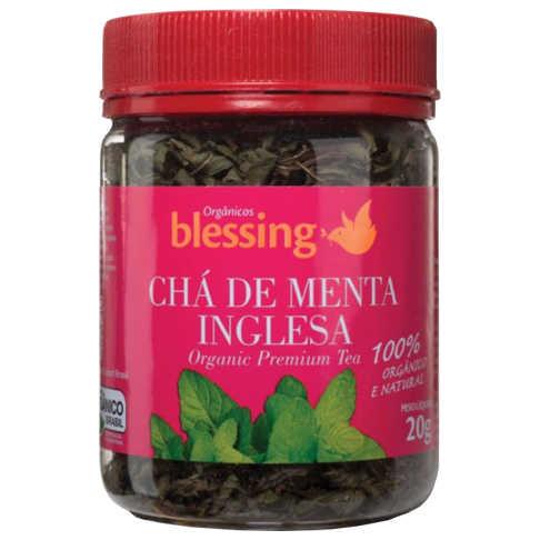 Chá de Menta Inglesa Orgânico 20g - Blessing  - Raiz Nativa - Loja de Produtos Naturais e Orgânicos Online