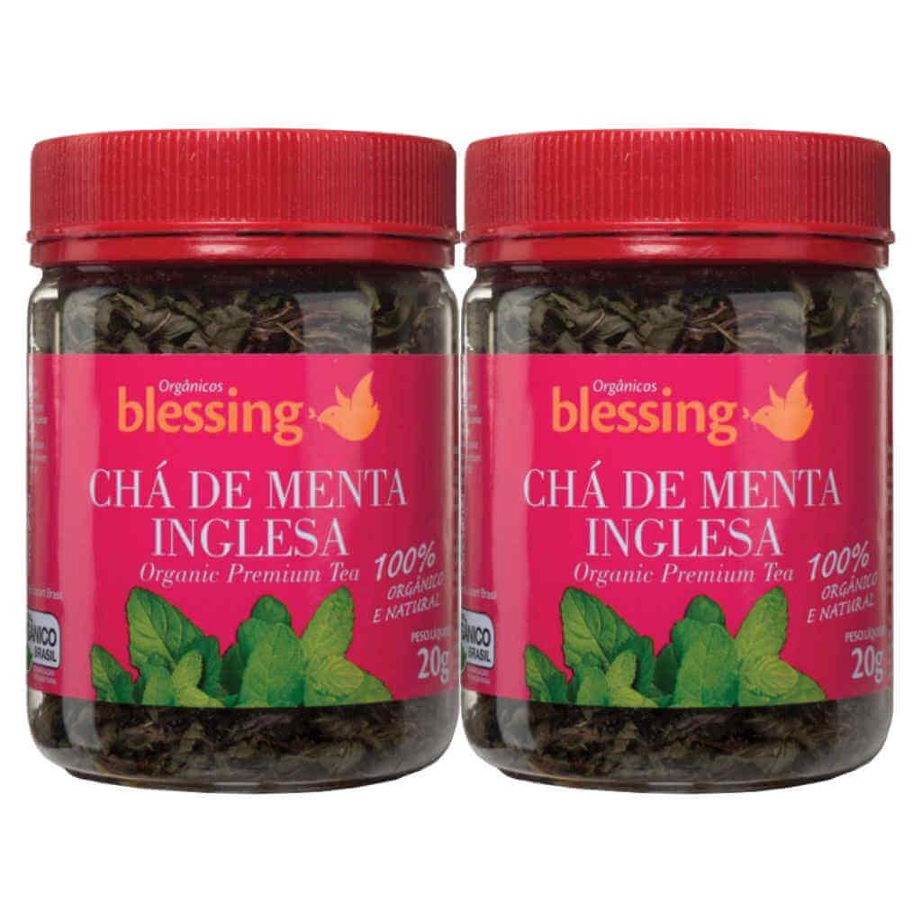 Chá de Menta Inglesa Orgânico 20g - Blessing (Kit c/ 2 unidades)  - Raiz Nativa - Loja de Produtos Naturais e Orgânicos Online