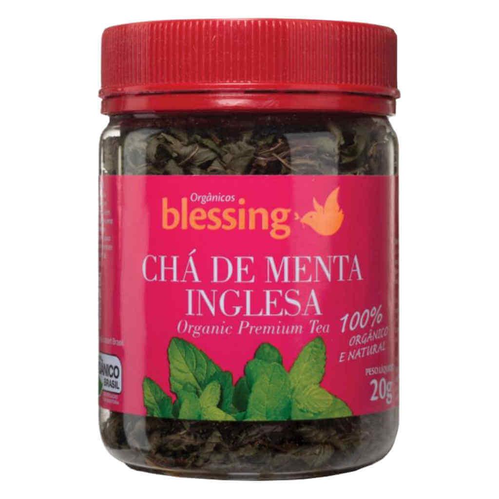 Chá de Menta Inglesa Orgânico 20g - Blessing (Kit c/ 2 unidades)