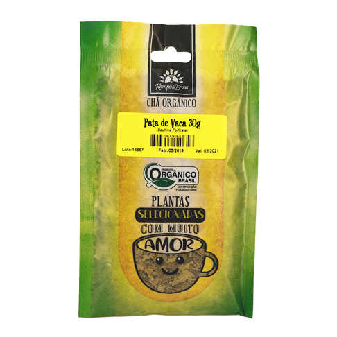Chá de Pata de Vaca Orgânico 30g - Kampo de Ervas  - Raiz Nativa - Loja de Produtos Naturais e Orgânicos Online