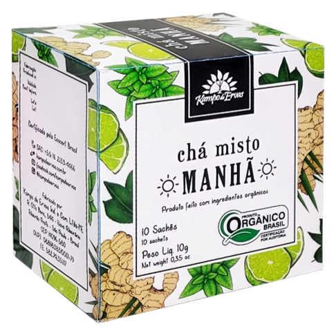 Chá Misto Orgânico Manhã Harmonia 10 Sachês - Kampo de Ervas  - Raiz Nativa - Loja de Produtos Naturais e Orgânicos Online