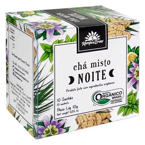 Chá Misto Orgânico Noite Harmonia 10 Sachês - Kampo de Ervas  - Raiz Nativa - Loja de Produtos Naturais e Orgânicos Online