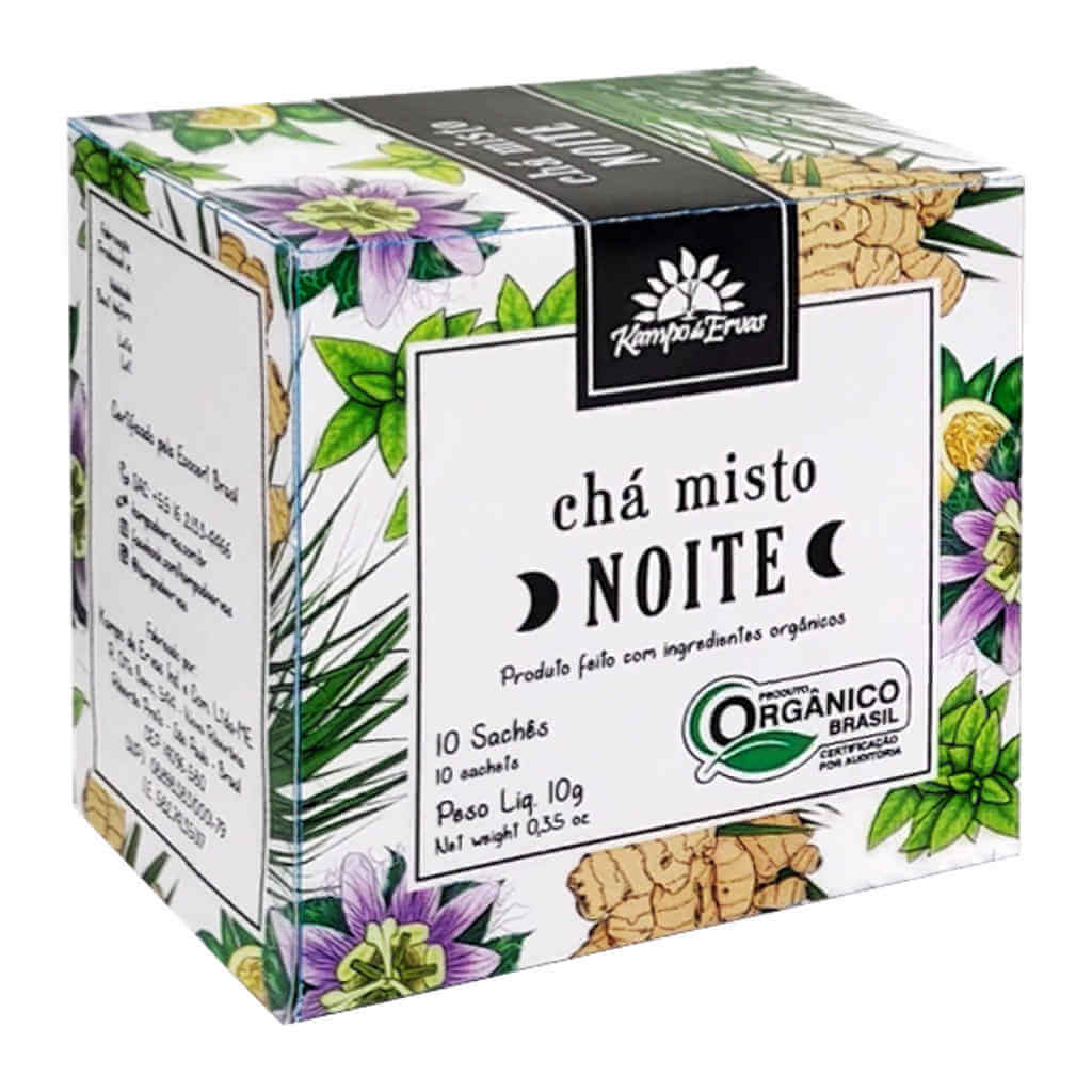 Chá Misto Orgânico Noite - Kampo de Ervas (Kit Mês c/ 30 sachês)