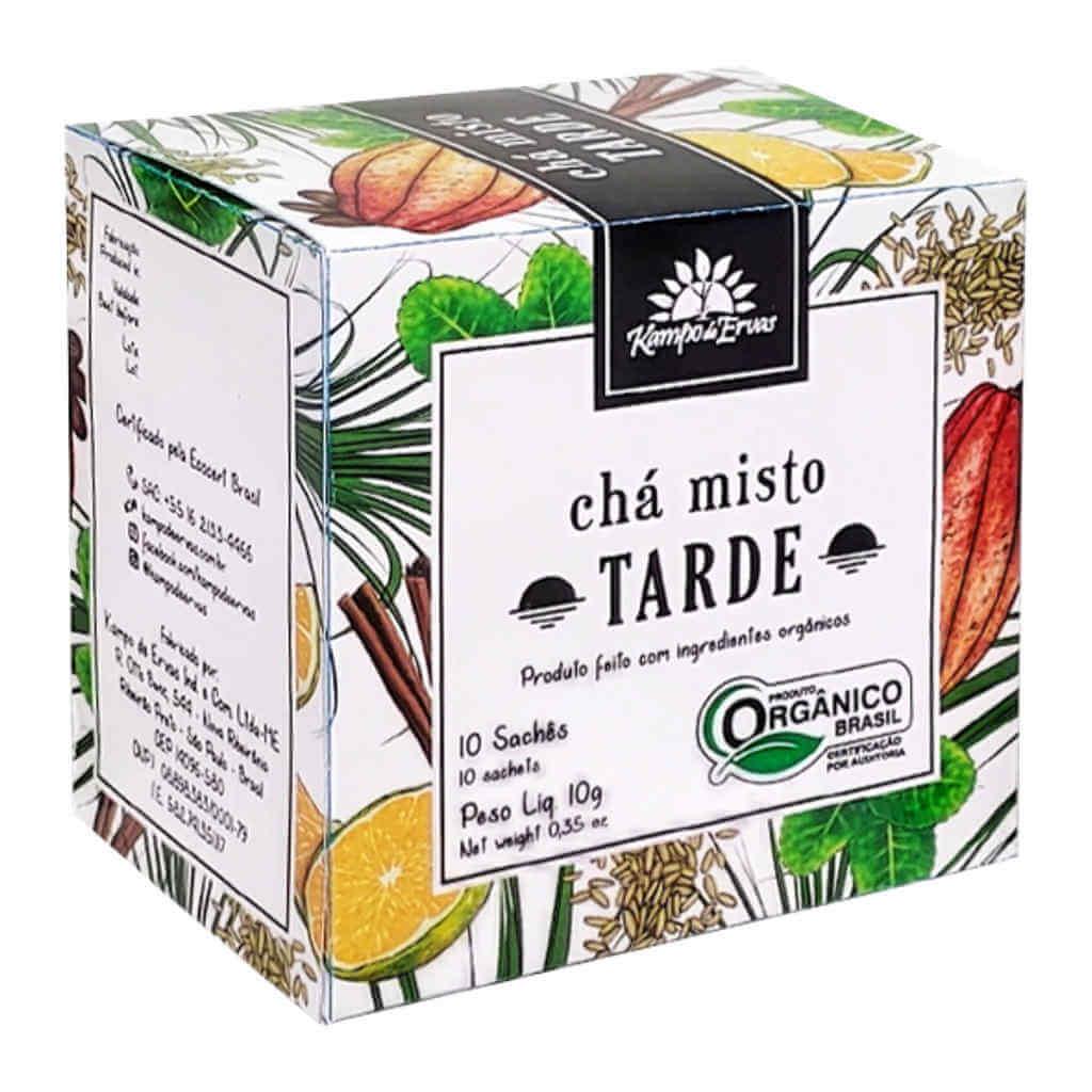 Chá Misto Orgânico Tarde - Kampo de Ervas (Kit Mês c/ 30 sachês)  - Raiz Nativa - Loja de Produtos Naturais e Orgânicos Online