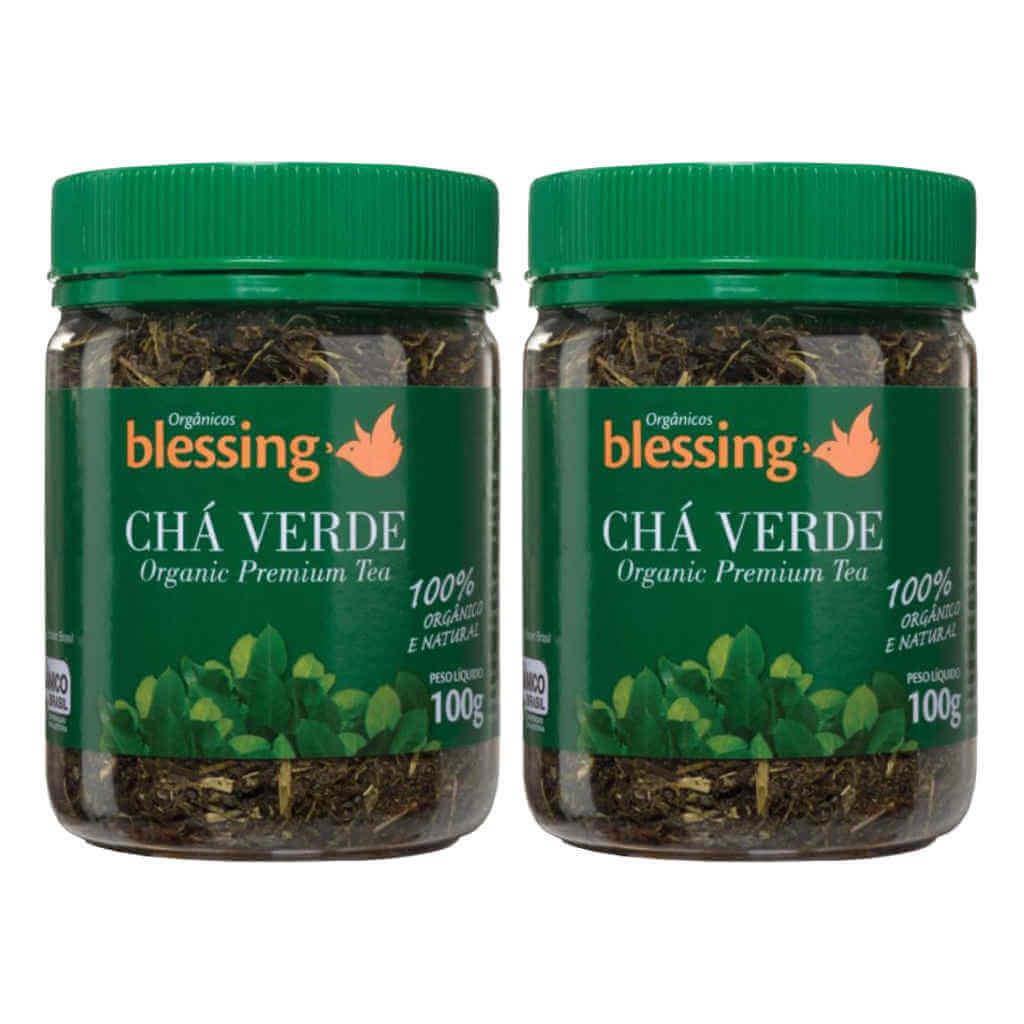 Chá Verde Japonês Orgânico 100g - Blessing (Kit c/ 2 unidades)