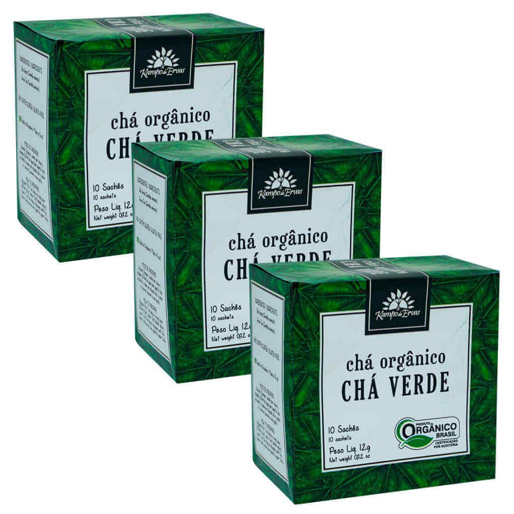 Chá Verde Orgânico - Kampo de Ervas (Kit c/ 30 sachês)