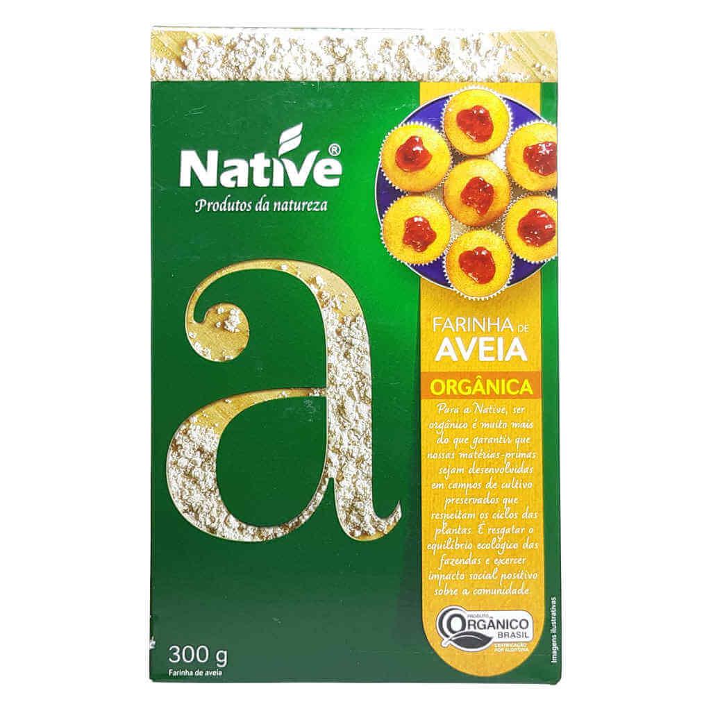 Farinha de Aveia Orgânica 300g - Native (Kit c/ 3 unidades)  - Raiz Nativa - Loja de Produtos Naturais e Orgânicos Online