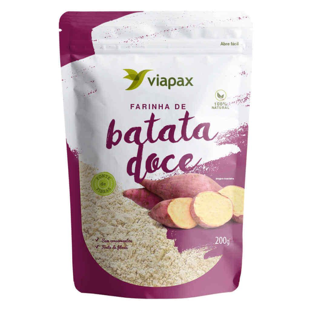 Farinha de Batata Doce 200g - Viapax Bio (Kit c/ 3 unidades)  - Raiz Nativa - Loja de Produtos Naturais e Orgânicos Online