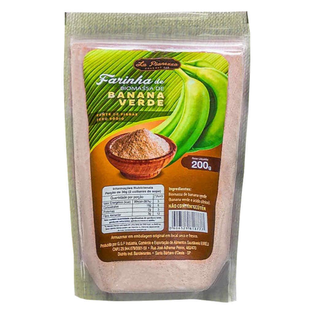 Farinha de Biomassa de Banana Verde 200g - La Pianezza