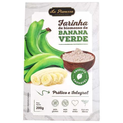 Farinha de Biomassa de Banana Verde 200g - La Pianezza  - Raiz Nativa - Loja de Produtos Naturais e Orgânicos Online