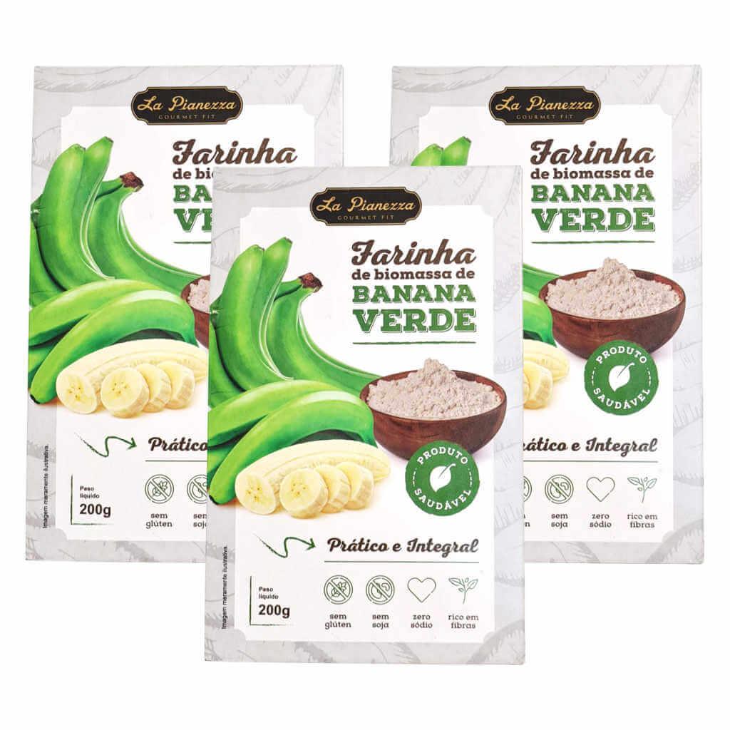 Farinha de Biomassa de Banana Verde 200g - La Pianezza (Kit c/ 3 unidades)  - Raiz Nativa - Loja de Produtos Naturais e Orgânicos Online