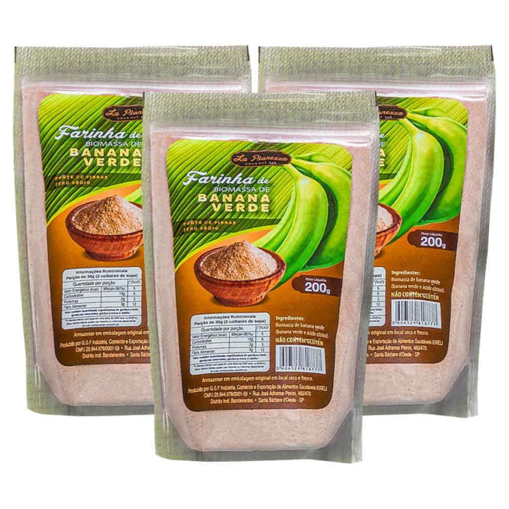Farinha de Biomassa de Banana Verde 200g - La Pianezza (Kit c/ 3 unidades)